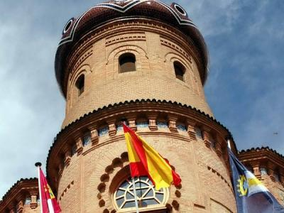 Imagen del torreón del Ayuntamiento de Mora